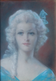Paleologue, Jean, Miami. Pastel on cardboard, 12 and one-half by 18 inches. Signed lower right, Jean Paleologue, Miami, Fla. 1949.