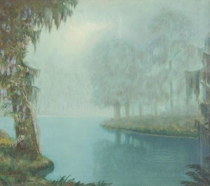 Porth, Lawrence. Magnolia Gardens, Tampa, 1947. Oil on canvas, 27 and one quarter by 31.
