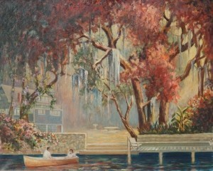 Porth, Lawrence. Tampa, After the Rain, Sunrise, My Back Yard. 1952. Oil on canvas, 24 by 30 inches. Exhibited Florida International Art Exhibit, Florida Southern College, 1952.