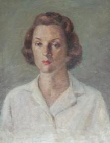 Protas, Helen. Sarasota. Self portrait, Voodo. Oil on board, 22 by 26 inches.