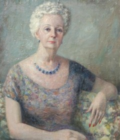 Protas, Jay. Sarasota. Oil on canvas, 24 by 28 inches. Mrs. Zinn owned a resturant in Sarasota.