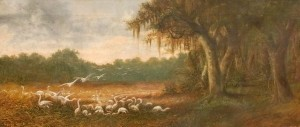 Seavey, George , Signed Gypsy George, 1888. Oil on canvas, 14 by 33 inches.