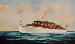 Selby, Joe. Miami, 1954. Oil on board, 11 one half by 19 one half inches.