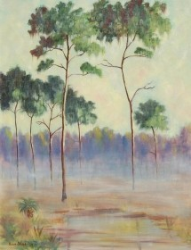 Shaw, Alan. Morning Mist, 1934. Oil on canvas, 22 by 28 inches.