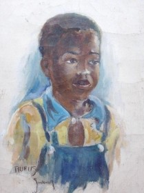 Stockwell, Catherine, DeLand,   Eustis.  Rufus. Oil on canv as, 9 by 12 inches.