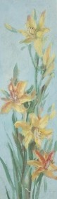 Stockwell, Catherine. Eustis. Oil on board, 5 by 15 inches.