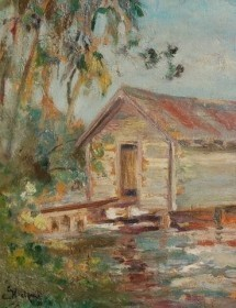 Stockwell, Catherine. Oil on board, 11 by 14 inches.