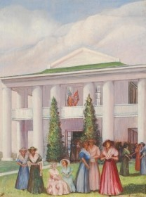 Taylor, Bessie Barrington, Daughters of the Confederacy at the Gamble Mansion, Ellenton, 1940. Oil on canvas, 26 by 35 inches.