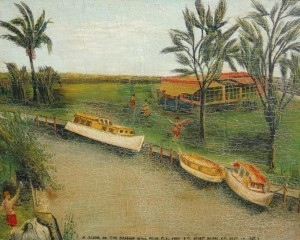 Tennis, Leonard Orestes. A Scene on the Seaboard Canal, Miami, Fla.,  From Seventh St. Bridge, N.W. (October 14, 1937)