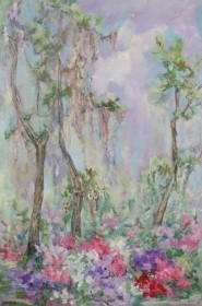 Tracy, Lois Bartlett.  Sarasota. Signed Lois Bartlett. Oil on canvas, 24 by 36 inches.