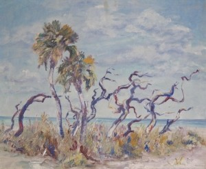 Tracy, Lois Bartlett. Sarasota. Signed Tracy. Oil on canvas, 24 by 30 inches.