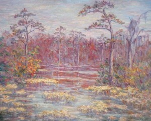 Wells, Lillian. DeLand. Oil on canvas, 22 by 26 and one half inches.