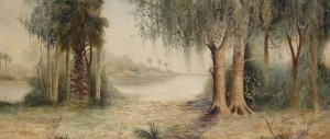 Wilcox, J. Ralph. Attributed to. Oil on board, 21 by 48 inches.