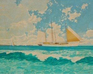 Winslow, Morton. Keys on the Horizon. Oil on canvas, 24 by 30 inches. Exhibited Sarasota Art Association.