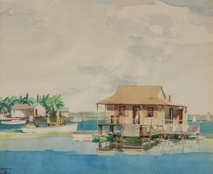 Wykes, Frederick.  Cortez, 38. Watercolor, 17 one half by 21 one half inches.