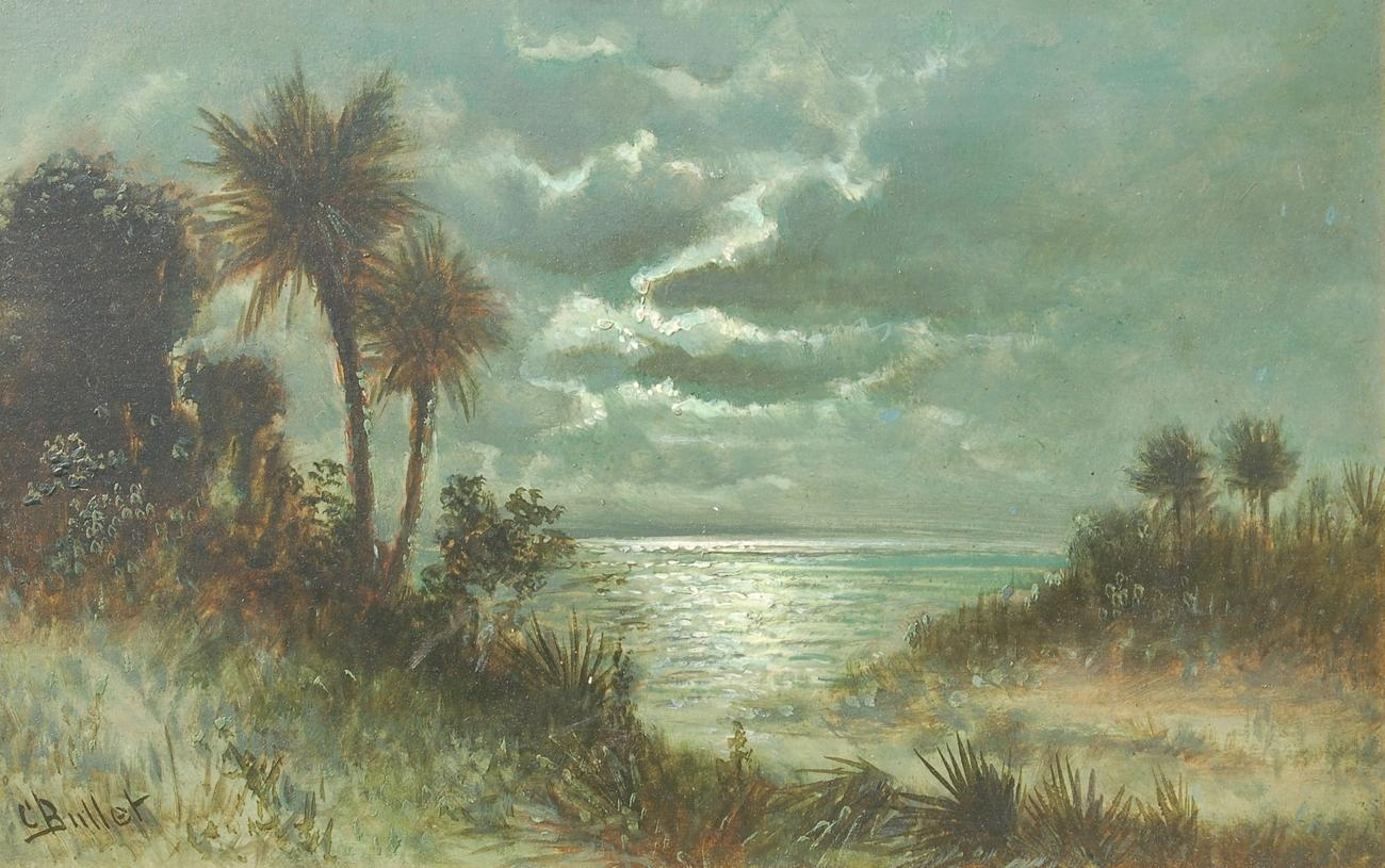 historic florida oil paintings art by charles bullet of